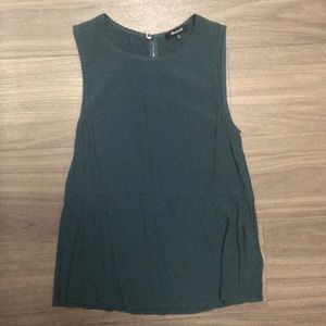 Madewell green peplum top